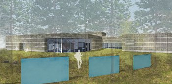Architectural rendering of the Dennos Museum Center addition