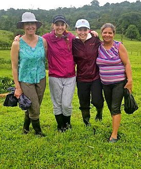 Eillie Sambrone and friends in Costa Rica