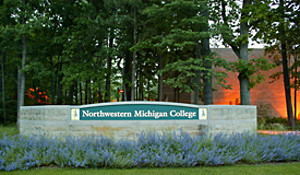 NMC main campus entrance welcome sign