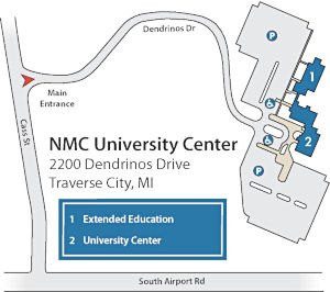 NMC University Center campus map