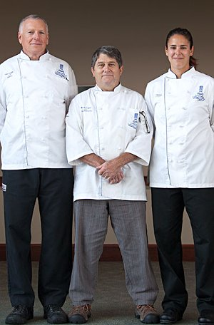 NMC chefs Fred Laughlin, Bob Rodriguez and Becky Tranchell