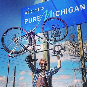 NMC Success Stories : Bicycling border to border : Northwestern