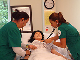 Nursing training exercise