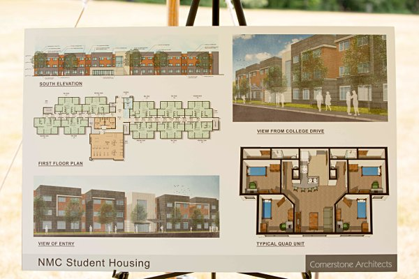 Plans for the new student housing project